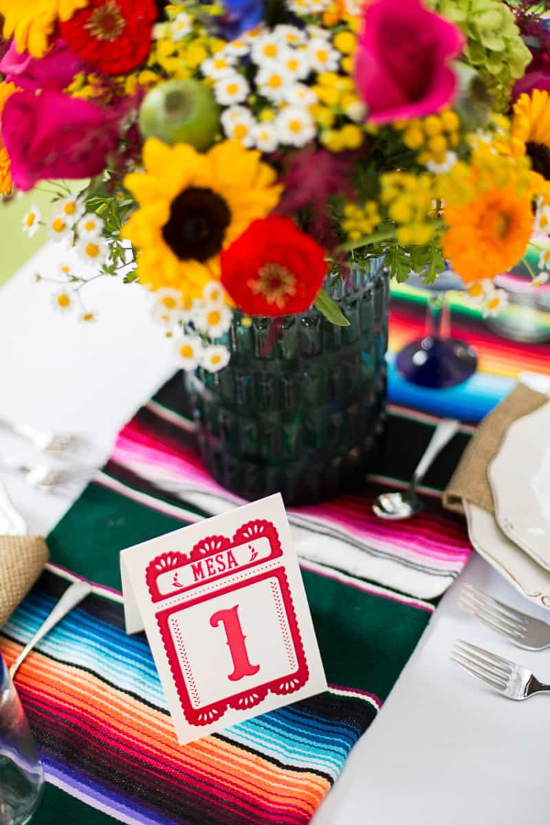 How to style a mexican themed table wedding inspiration 20