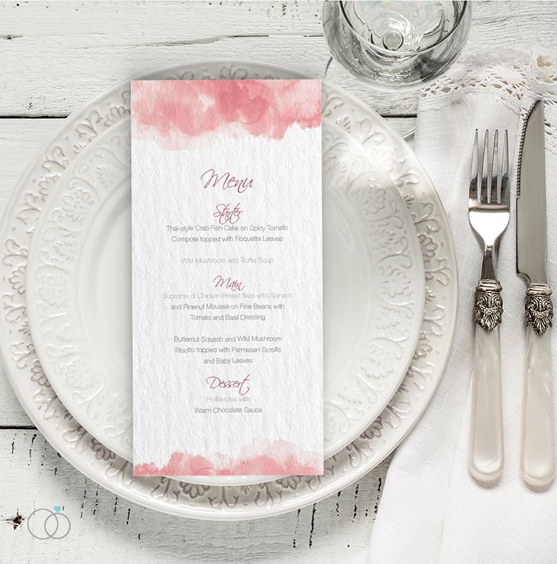 wedding stationery by LOVELI (10) Marsala Water Colour