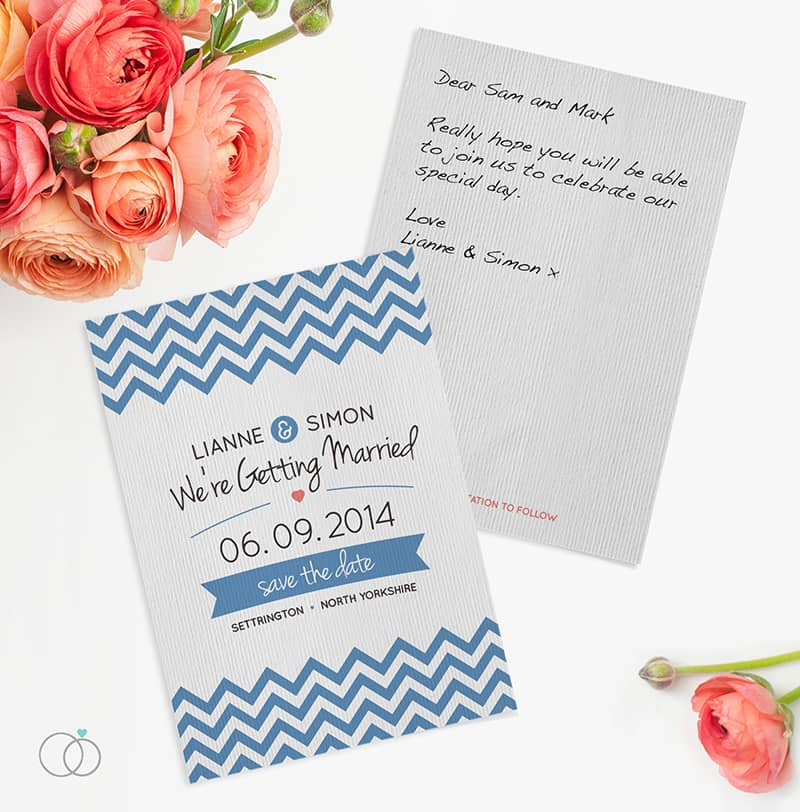 wedding stationery by LOVELI (4) Chevron Chic