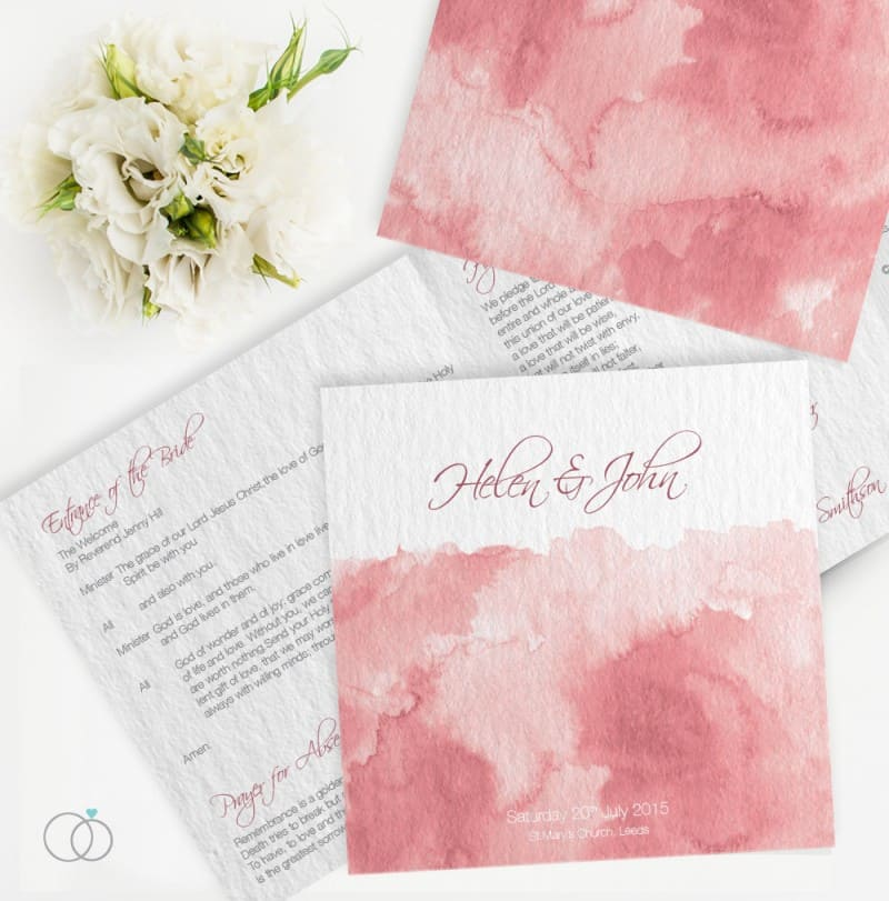 wedding stationery by LOVELI (9) Marsala Water Colour
