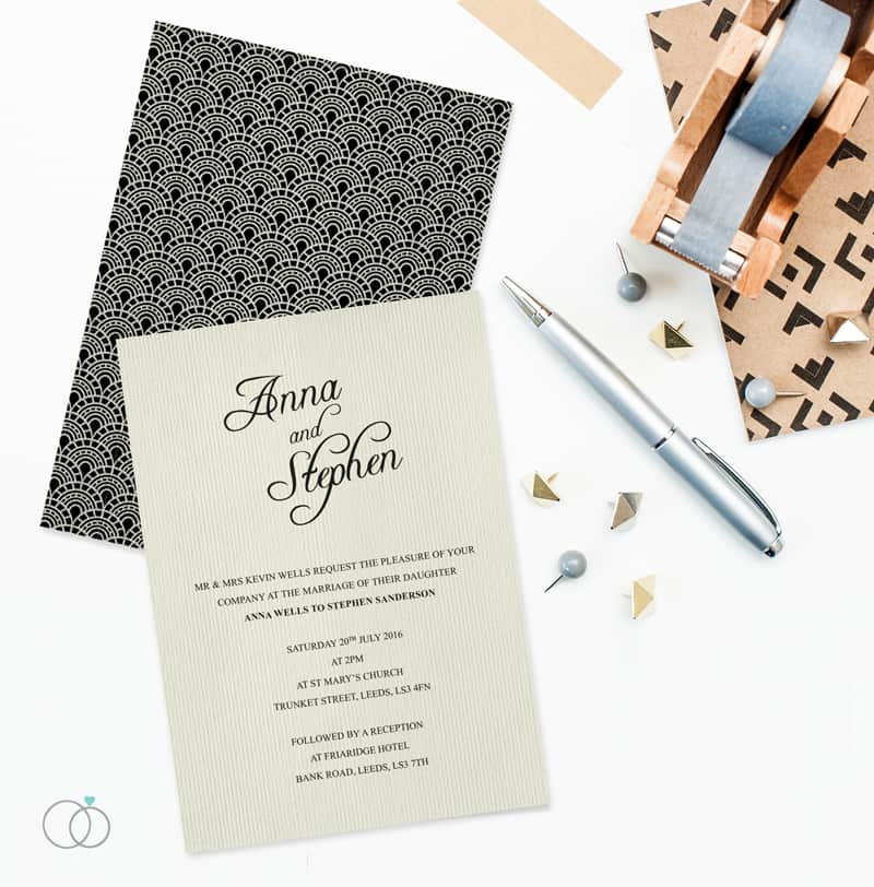 LOVELI GATSBY COLLECTION WEDDING STATIONERY VINTAGE (1)