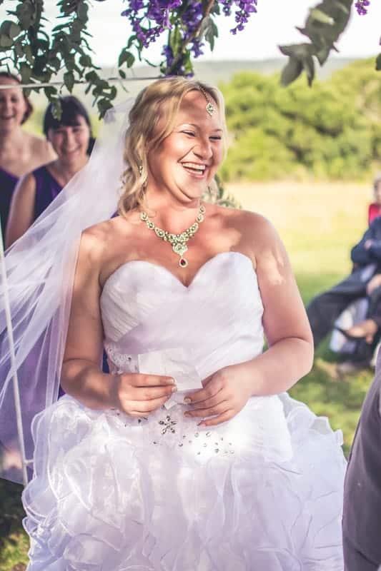 Sharlene and Zane's Bold Woodland Wedding in a treehouse (15)