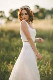 Two Piece Boho Wedding Dress Candice Lee Bridal