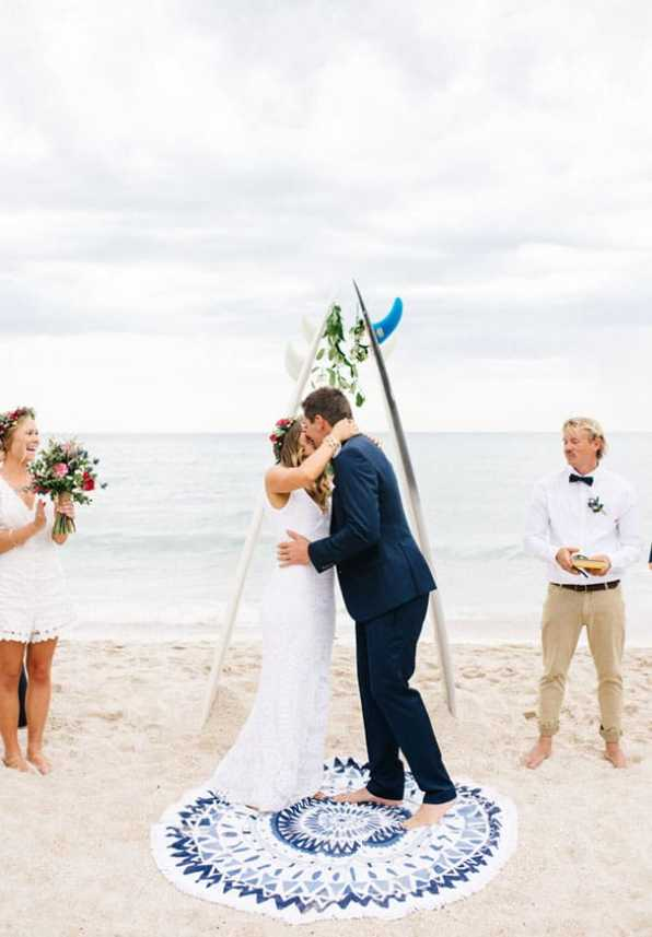 Hippie Beach Wedding in Melbourne
