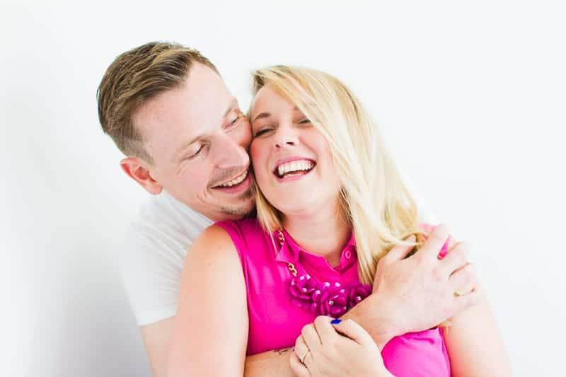 Emily & Matt's big news colourful engagement announcement shoot-28