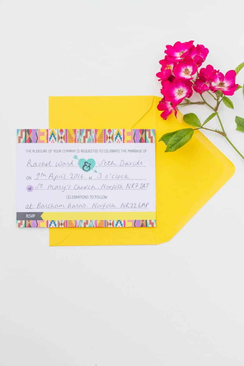 Free Aztec festival free Printable wedding invitation & Hashtag Instagram Poster (3)
