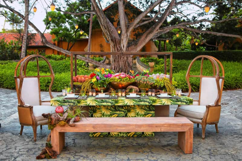 How to create a caribbean tablescape, tropical wedding ideas