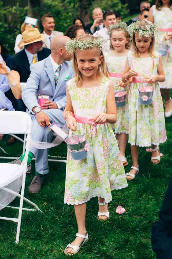 Backyard Flamino themed DIY Wedding in South Hampton USA (16)