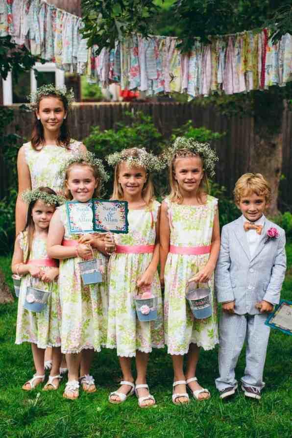 Backyard Flamino themed DIY Wedding in South Hampton USA (22)