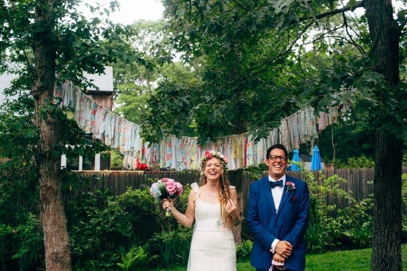 Backyard Flamino themed DIY Wedding in South Hampton USA  (25)