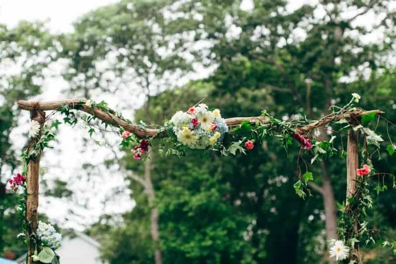 Backyard Flamino themed DIY Wedding in South Hampton USA  (7)
