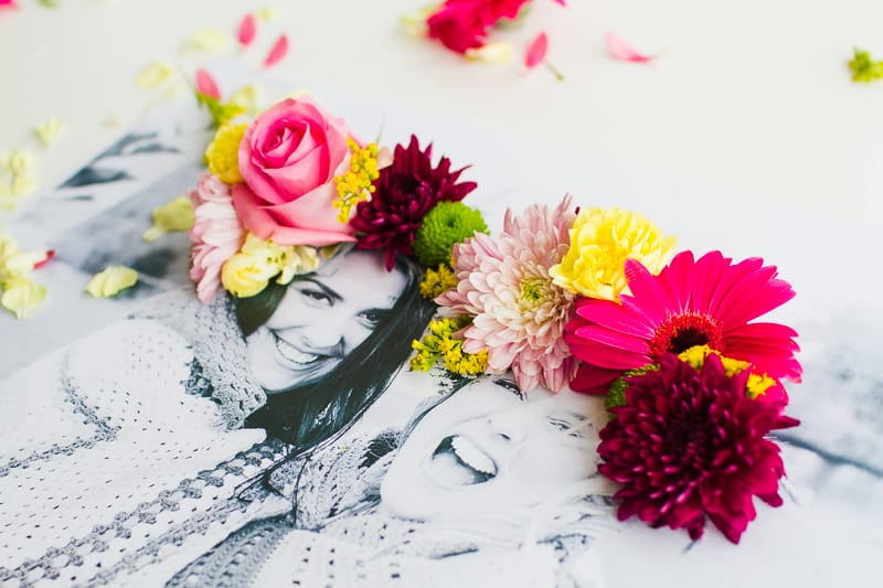 DIY 3D flower Photography Art Photo tutorial wedding decor fresh flowers for everyone-5