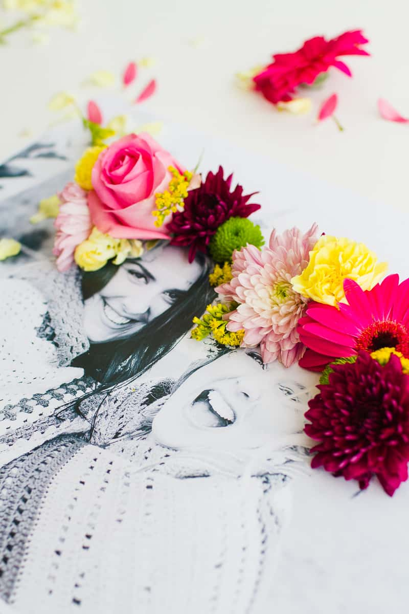 DIY 3D flower Photography Art Photo tutorial wedding decor fresh flowers for everyone-6
