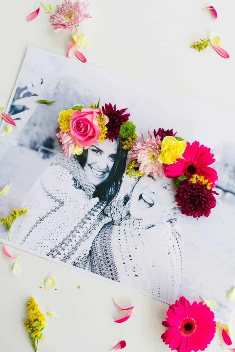 DIY 3D flower Photography Art Photo tutorial wedding decor fresh flowers for everyone-8