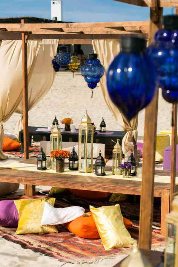 How to create a Moroccan-style party on the beach! (7)