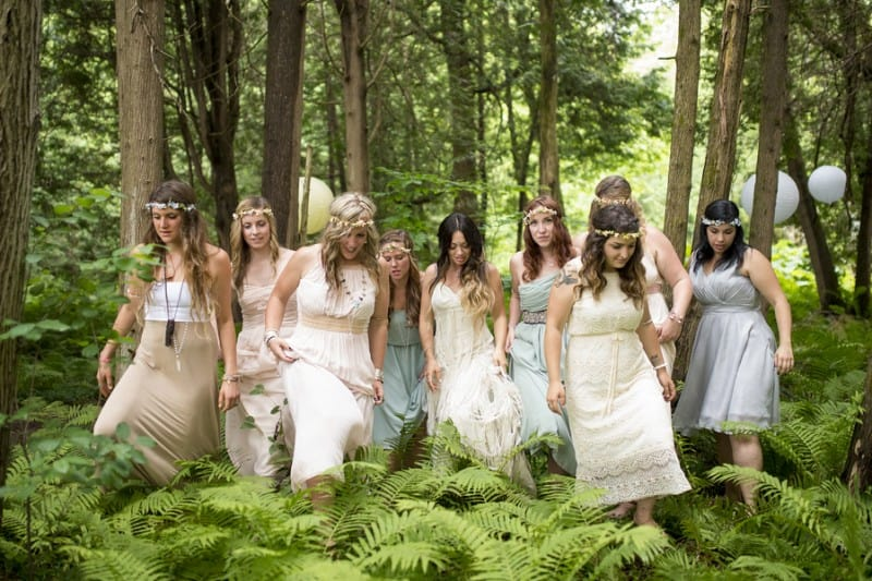 THIS FREE SPIRITED TRAVEL BLOGGER'S BOHEMIAN FOREST WEDDING IS A DREAM COME TRUE! (23)