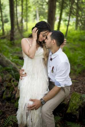 THIS FREE SPIRITED TRAVEL BLOGGER'S BOHEMIAN FOREST WEDDING IS A DREAM COME TRUE! (34)