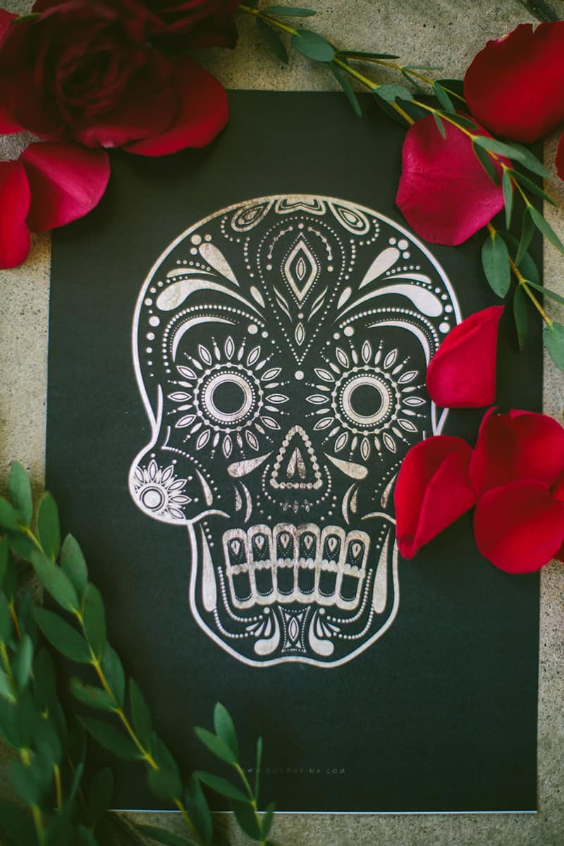 Day of the Dead Elopement Cinco de Mayo Halloween Wedding (17)