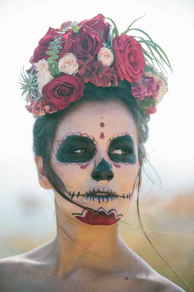 Day Of The Dead Elopement Bespoke Bride Wedding Blog
