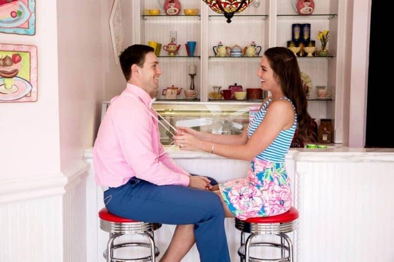 Ice Cream Parlour  Engagement Florida (16)