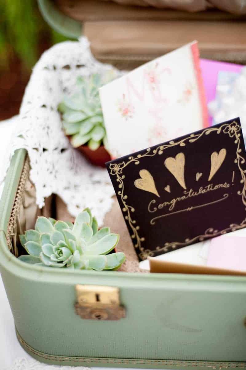 Retro campervan hippie wedding with chevrons & succulents-18