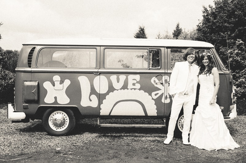 Retro campervan hippie wedding with chevrons & succulents-3
