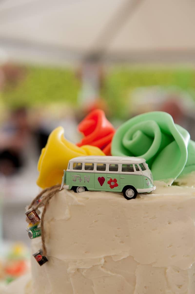 Retro campervan hippie wedding with chevrons & succulents-36