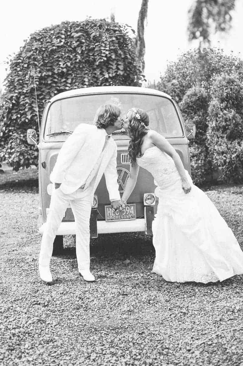 Retro campervan hippie wedding with chevrons & succulents-5