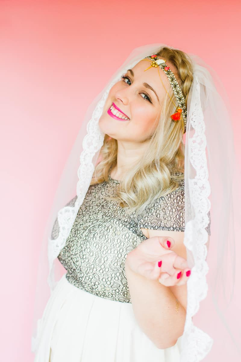 Styling wedding veils with floral flower crowns giant bows and boho headpieces for the modern bride britten weddings-18