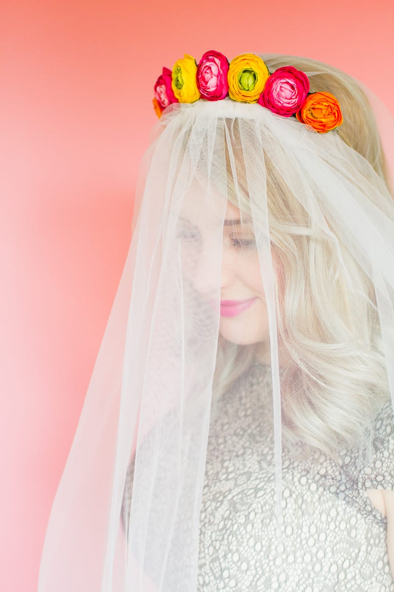 Styling wedding veils with floral flower crowns giant bows and boho headpieces for the modern bride britten weddings-19