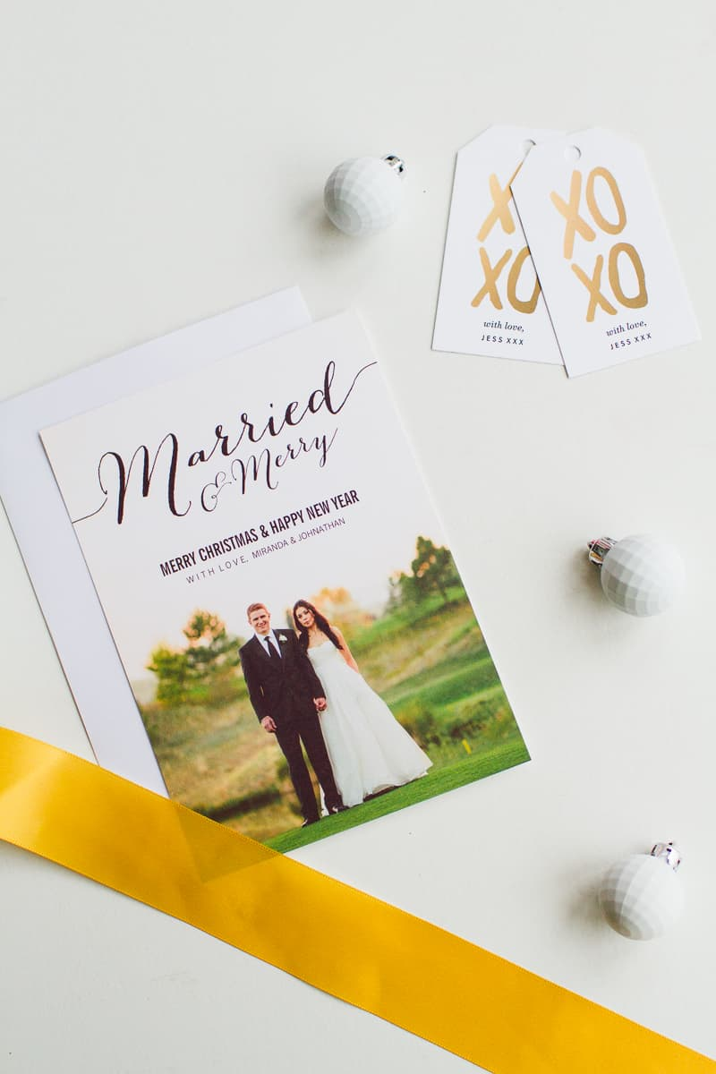 MODERN WEDDING CHRISTMAS CARDS FROM ZAZZLE WITH PHOTO UPLOAD ...