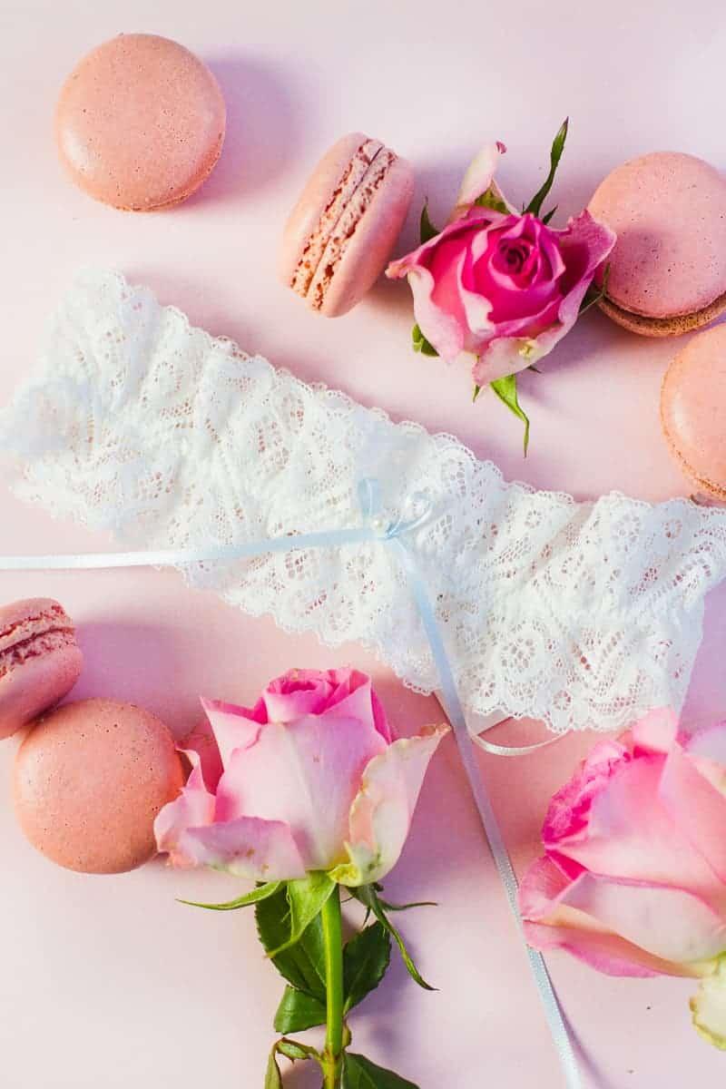 Wedding garter co USA still styling garters lace tulle details weddings_-2