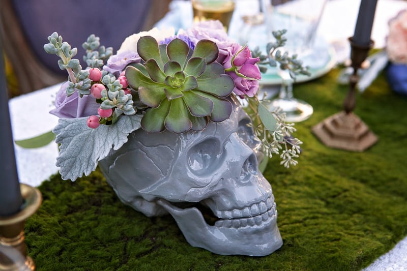 Spring style wedding inspiration skull theme scheme pastel colours modern_-16
