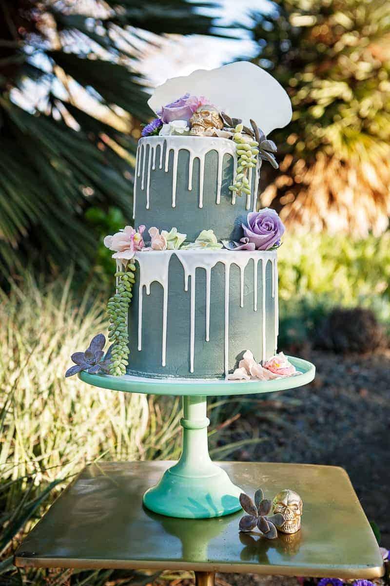 Spring style wedding inspiration skull theme scheme pastel colours modern_-2