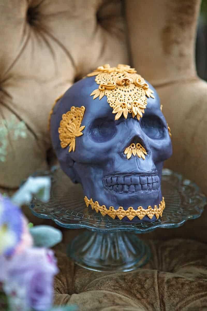 Spring style wedding inspiration skull theme scheme pastel colours modern_-40