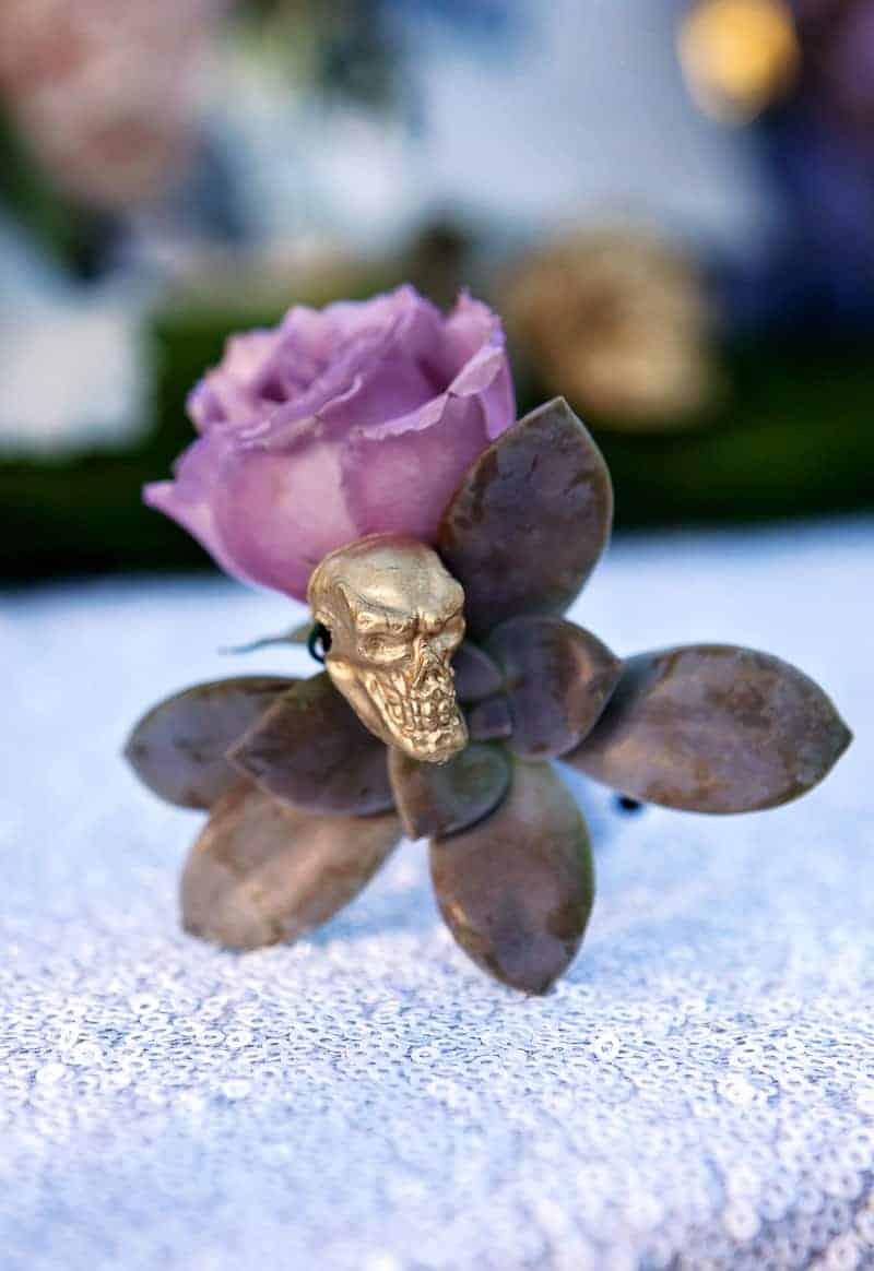Spring style wedding inspiration skull theme scheme pastel colours modern_-6