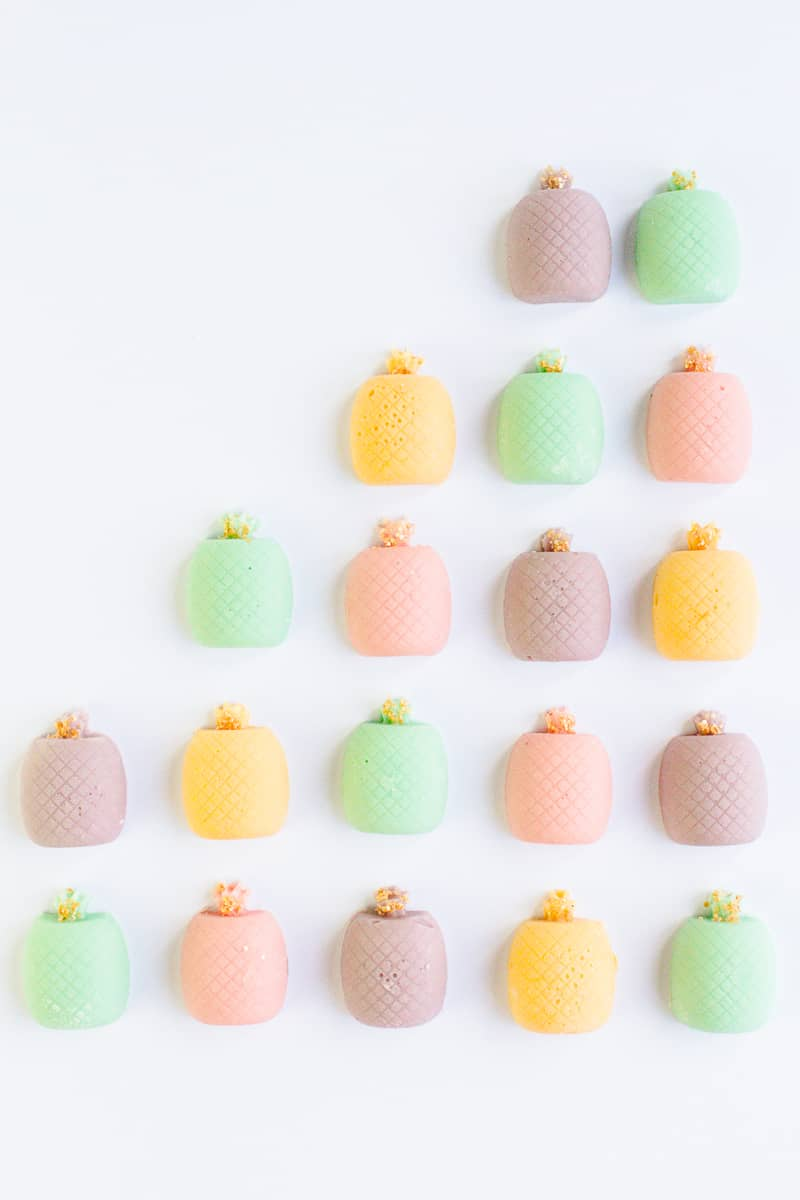 DIY mothers day gift favours chocolate pastel pineapples spring themed easter make your own-2
