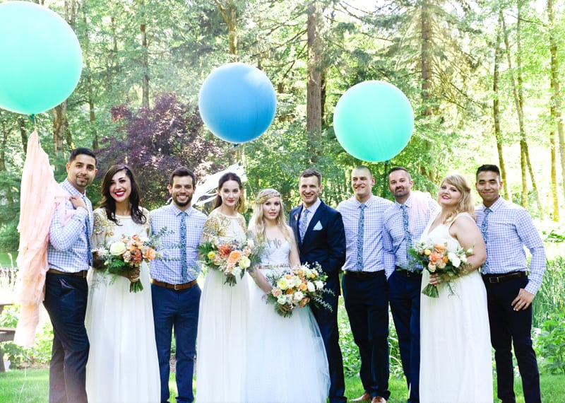 A WHIMSICAL OUTDOOR WEDDING IN PORTLAND FEATUIRNG CATS COLOURS & POLKA DOTS (1)