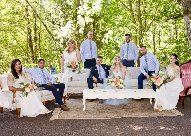 A WHIMSICAL OUTDOOR WEDDING IN PORTLAND FEATUIRNG CATS COLOURS & POLKA DOTS (10)