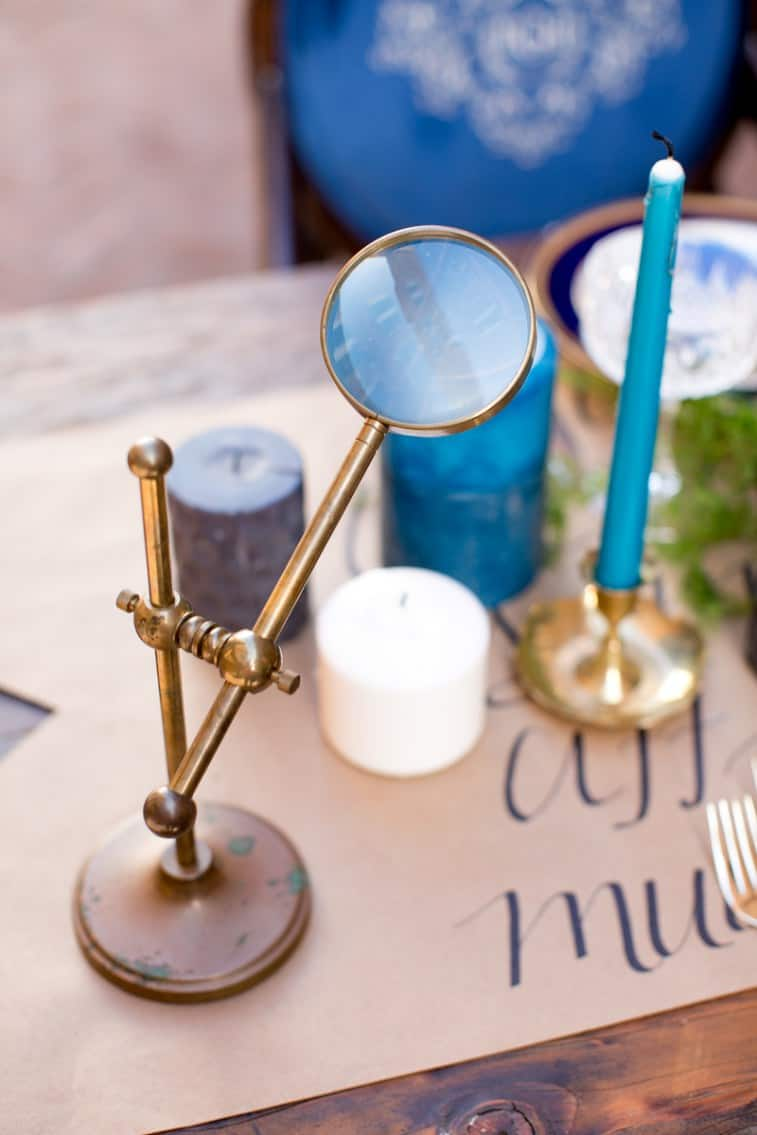 Candles table decor