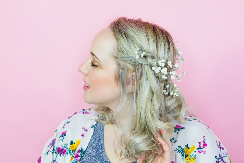 Coachella Hairstyle festival bride hairstlye boho tutorial DIY curls jamie chung floral crown-3