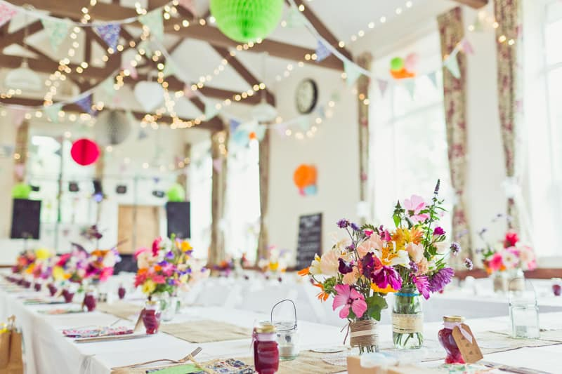 Colourful diy wedding in a village hall bespoke bride wedding blog 24 this cute diy wedding in a village hall is every crafters dream junglespirit Images