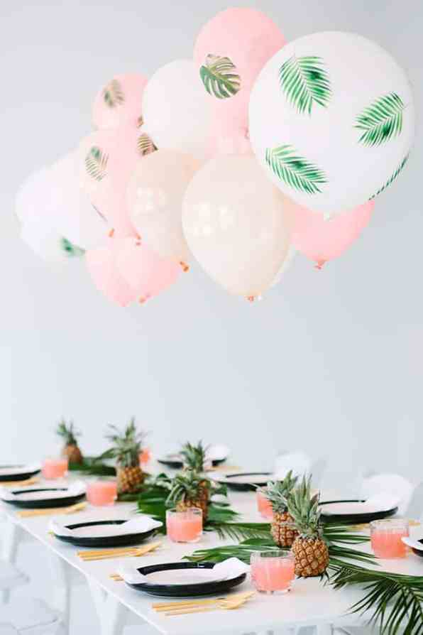 Tropical Wedding Styling Palm Balloons