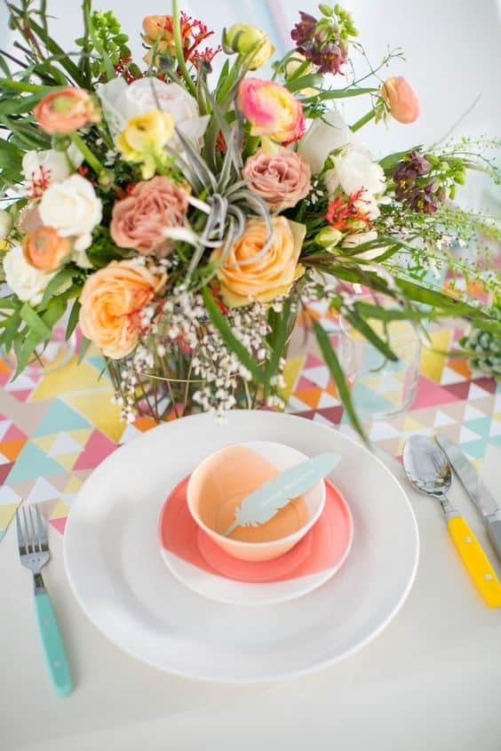 Colour Block Dinnerware, wedding ideas