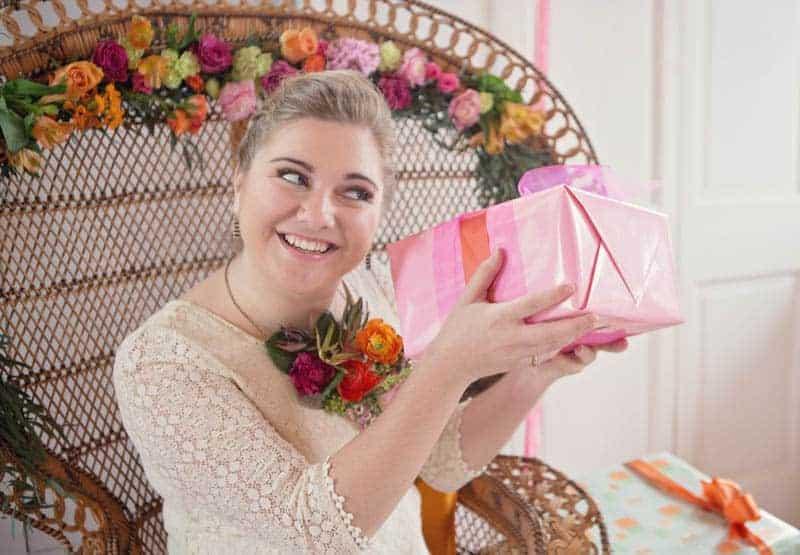 colourful modern bridal shower