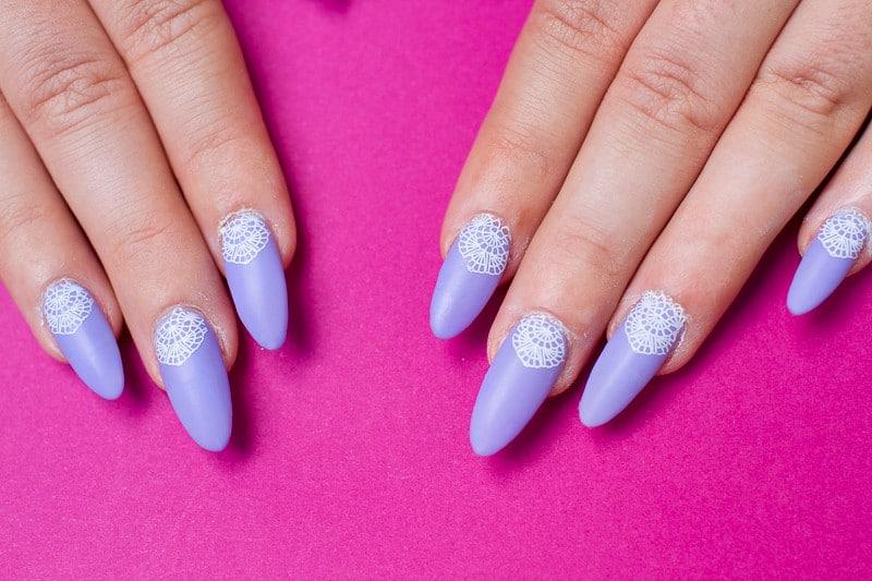 Festival Lace Bridal Nails Lavender Purple Elegant Glastonbury Nail Tutorial_-4