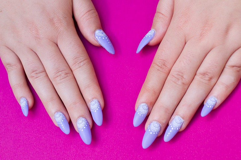 Festival Lace Bridal Nails Lavender Purple Elegant Glastonbury Nail Tutorial_-6