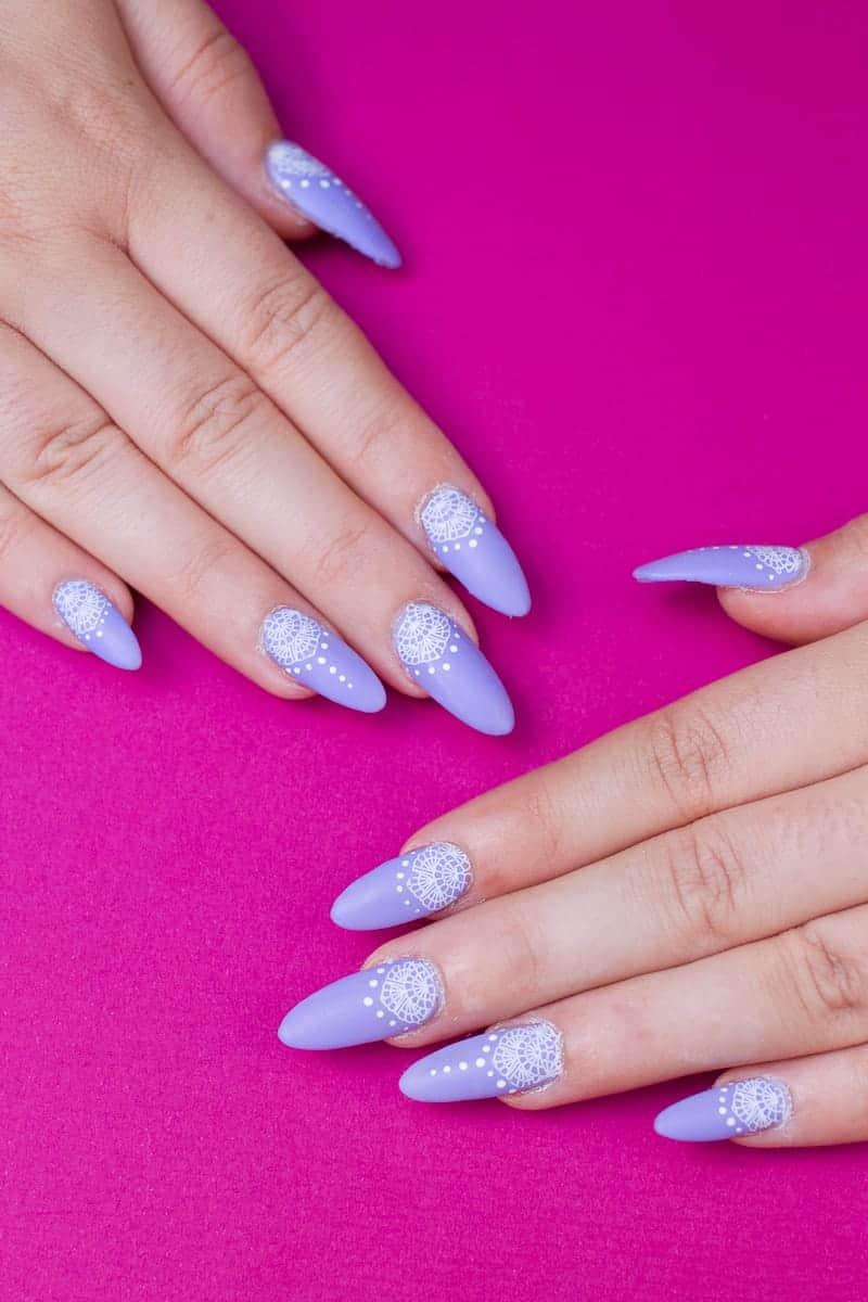 Festival Lace Bridal Nails Lavender Purple Elegant Glastonbury Nail Tutorial_-7