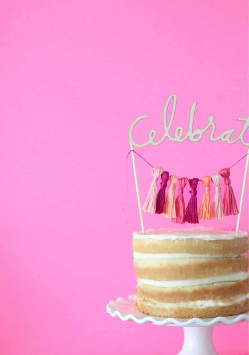 QUICK & EASY WEDDING DIYS THAT WILL SAVE TIME & MONEY-CELEBRATE TASSEL CAKE TOPPER DIY_8