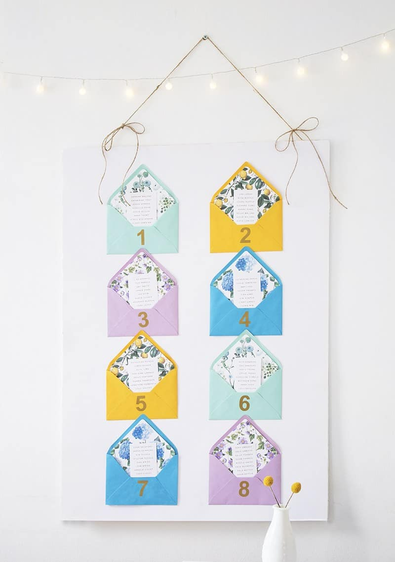 QUICK & EASY WEDDING DIYS THAT WILL SAVE TIME -table-plan-2
